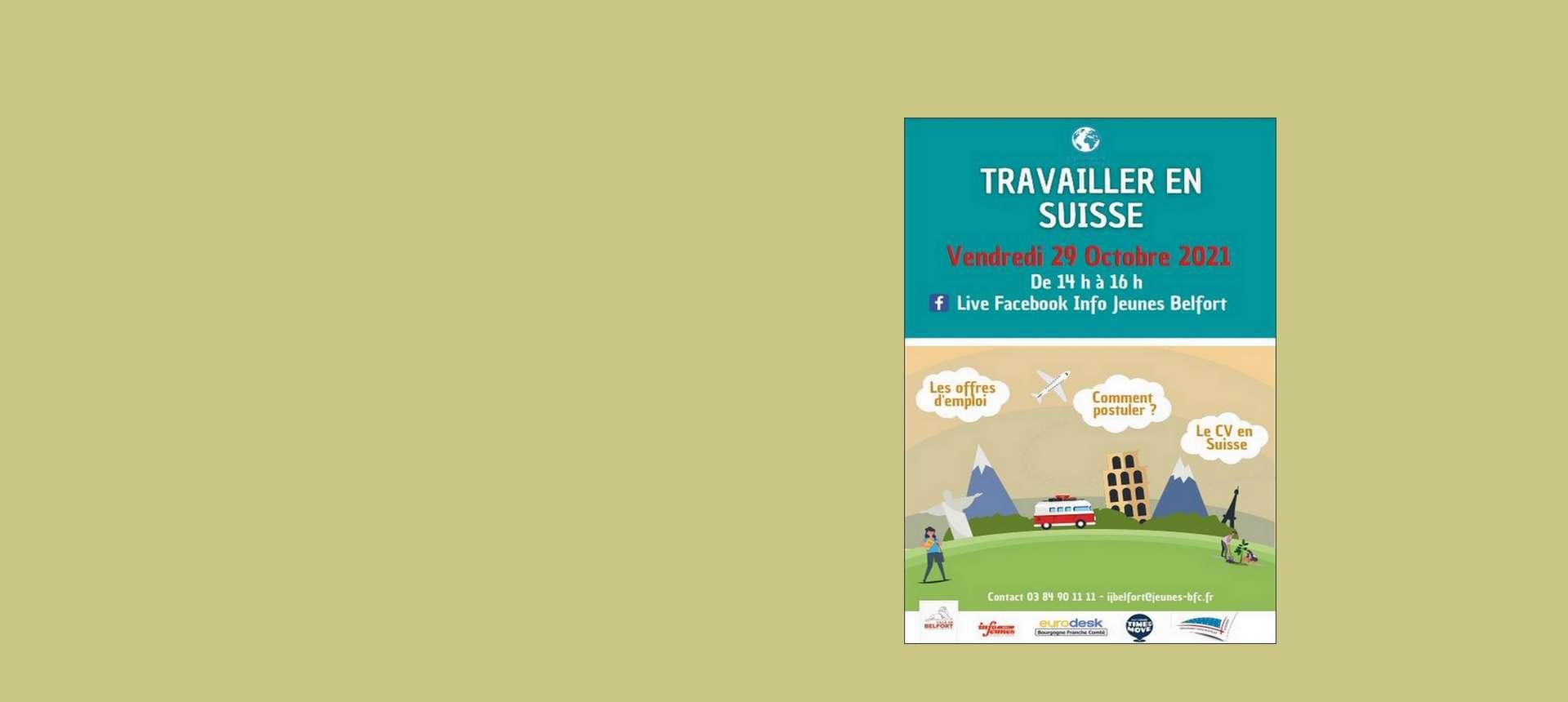 Conférence en ligne Travailler en Suisse le 29 octobre 2021